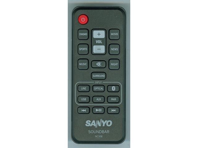 NEW SANYO REMOTE NC306UH SOUND BAR FWSB415E A - Newegg com