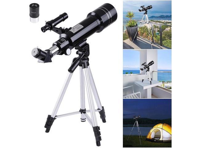 400x70mm refractor astronomical telescope eyepieces w tripod for