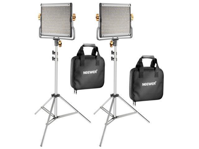 Dimmable Bi-color 480 LED U Bracket Professional Video Light Kit 2 Packs