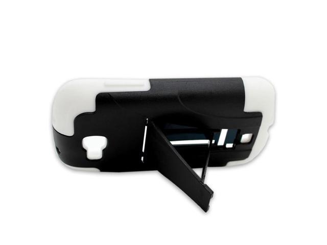 For Samsung Galaxy Axiom R830 White Black Case Hybrid Heavy Duty Hard Cover  - Newegg com