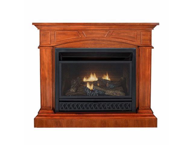 Sensational Duluth Forge Dual Fuel Ventless Gas Fireplace 26 000 Btu T Stat Control Heritage Cherry Finish Newegg Com Download Free Architecture Designs Aeocymadebymaigaardcom