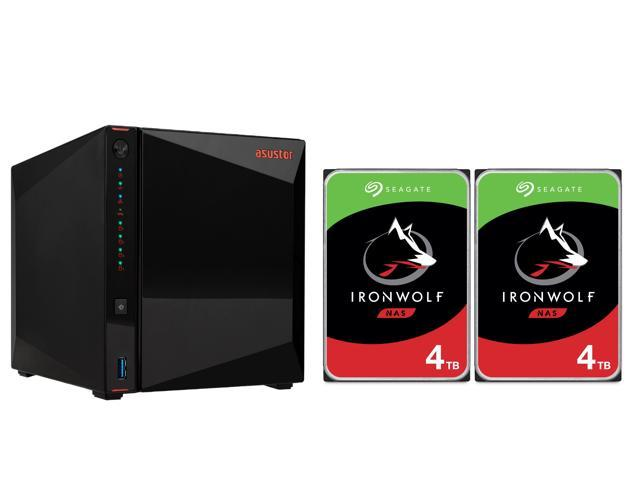 Asustor AS5304T 4-Bay Network Attached Storage  + 2 x Seagate 4TB NAS