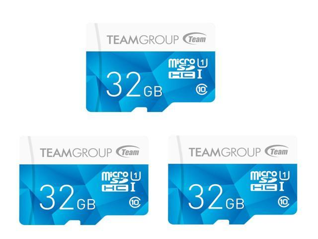 3-Pack Team Color Card 32GB MicroSDHC Card