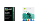 Microsoft 365 Family Bundle + AVG Internet Security 2021 (5 Devices)