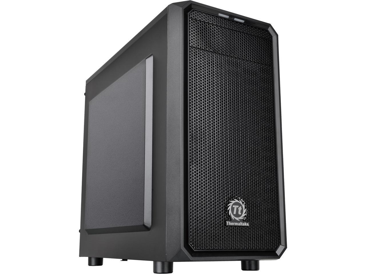 Thermaltake Versa H15 SPCC Micro ATX Tower Computer Case (Black)