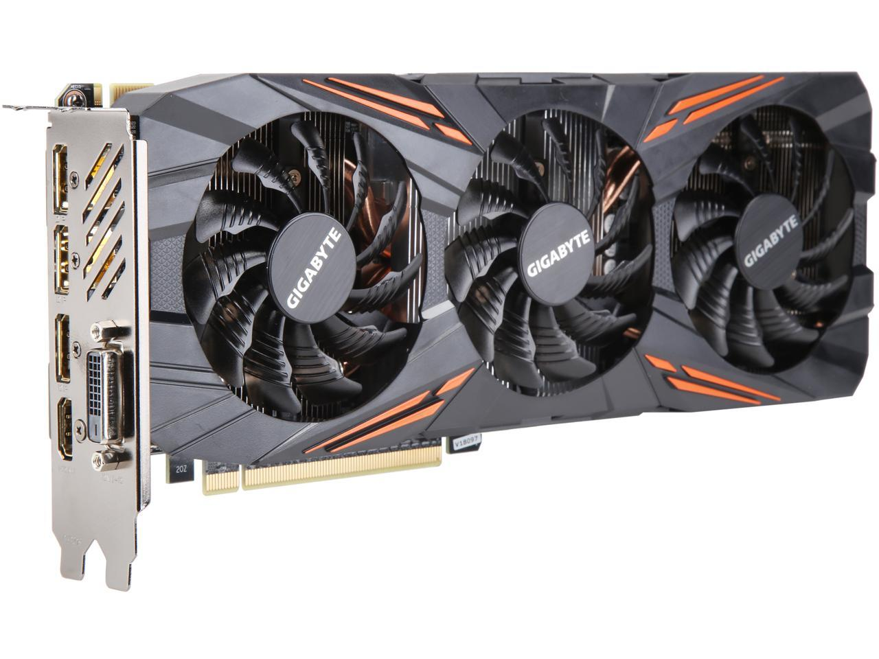 GigaByte GeForce GTX 1070 DirectX 12 8GB 256-Bit ATX Video Card