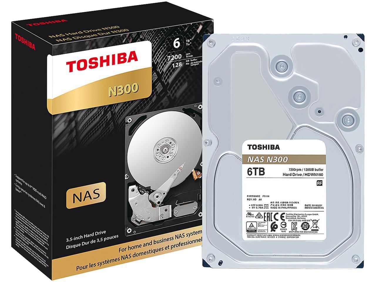 "Toshiba N300 3.5"" 6TB Internal Hard Drive"
