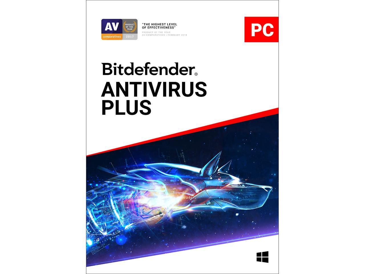 Bitdefender Antivirus Plus 2019 - 1 Year/10PCs (Download)