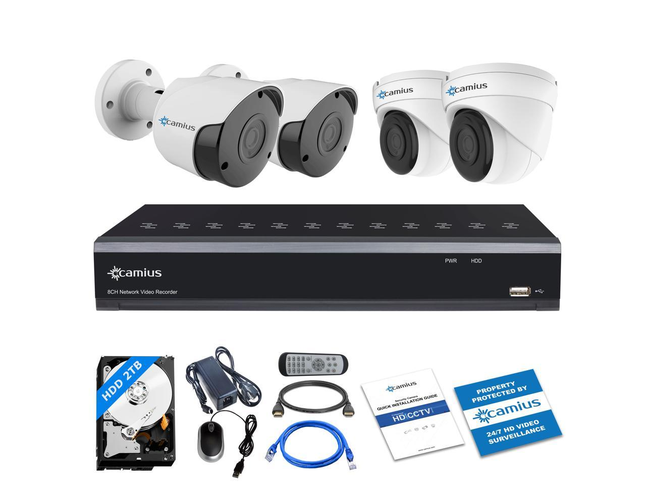 Camius 4K Ultra HD 5MP 8 Channel PoE Security Camera System