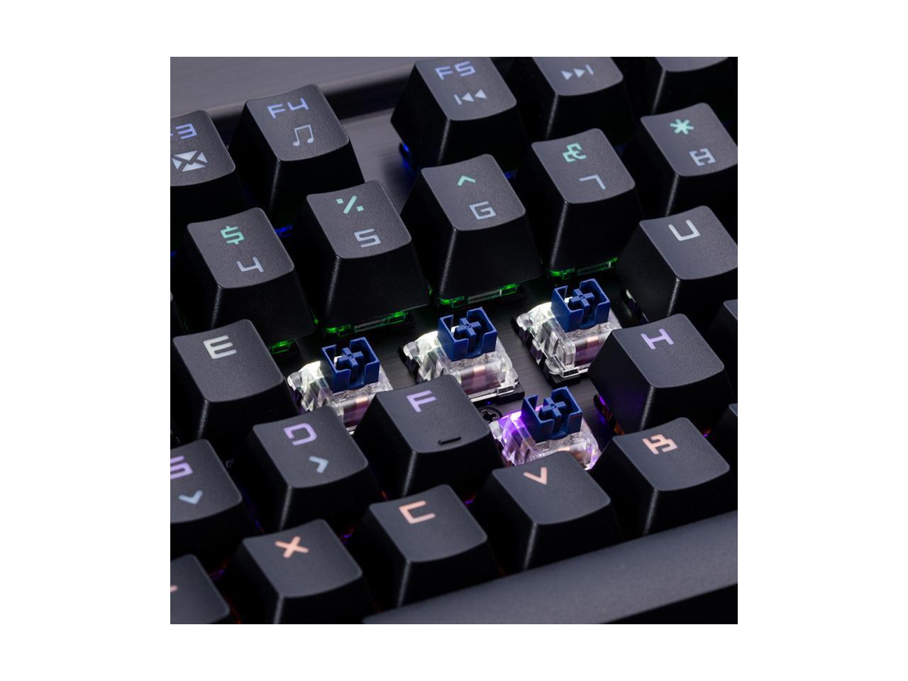 Клавиатуры, мыши, комплекты Механическая игровая клавиатура Magic-Refiner MK7 в ретро стиле с RGB подсветкой 108 клавиш и съемным упором для рук (Фото 4)