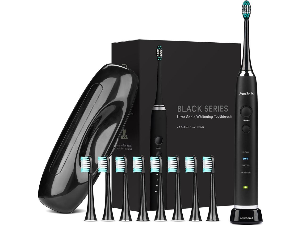 AquaSonic Black Series Ultra Whitening Toothbrush, Travel Case Included (More Options)