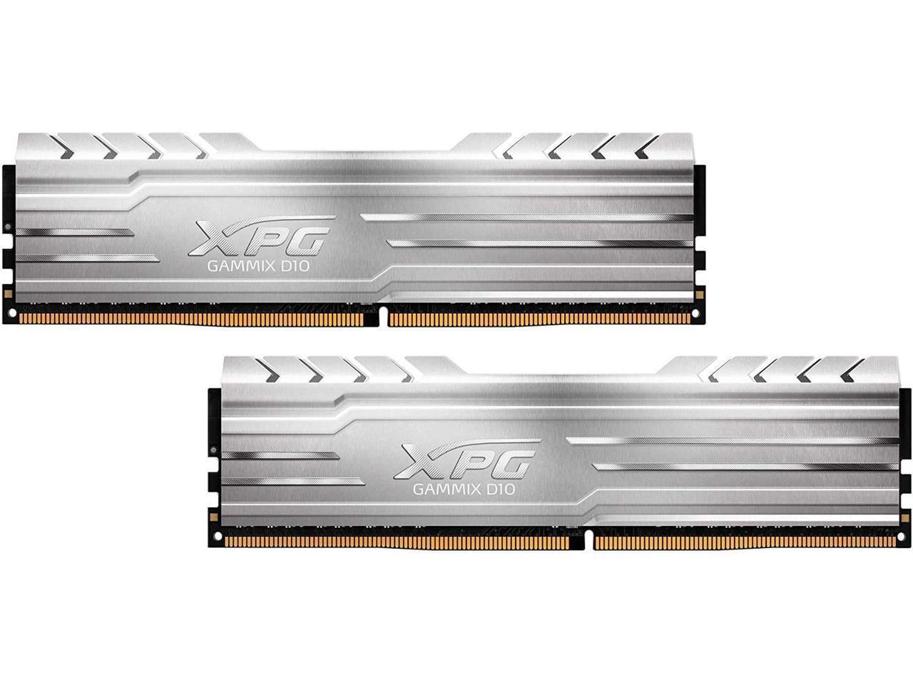 XPG Gammix D10 32GB (2 x 16GB) PC4-25600 3200MHz DDR4 288-Pin DIMM Desktop Memory