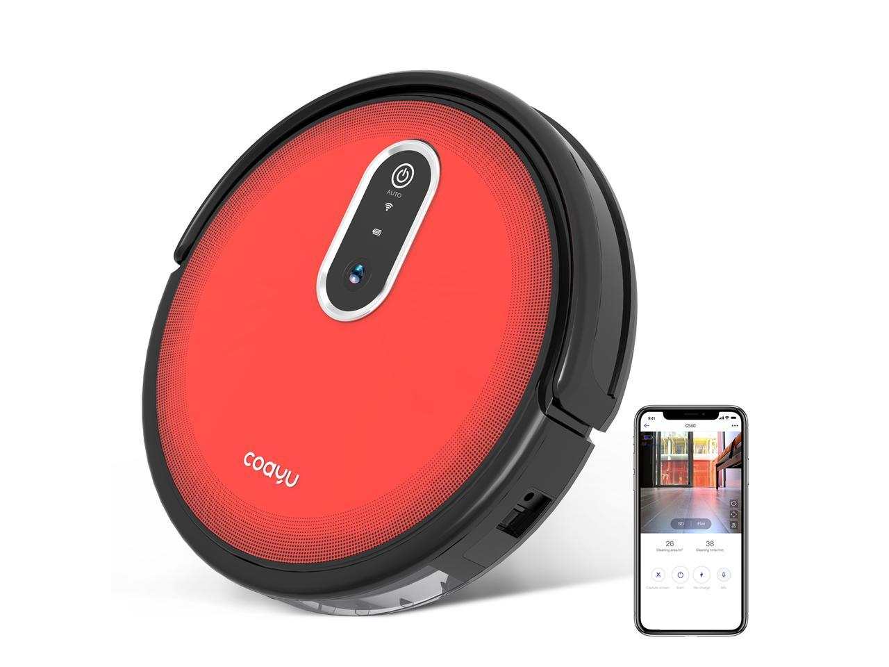COAYU Wet Robot Vacuum Cleaner with Camera, Wi-Fi & App Control