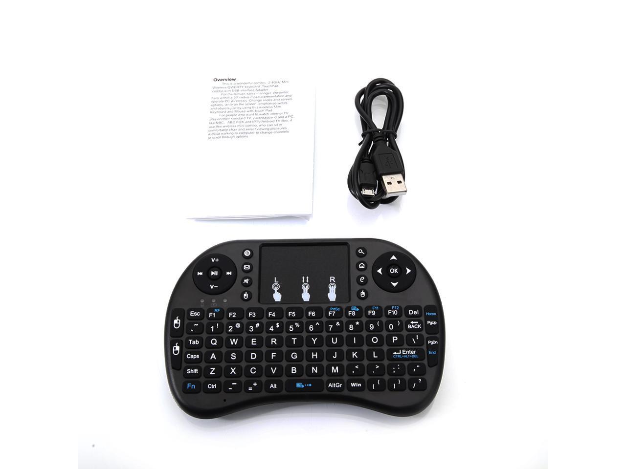 Mini 2.4GHz Wireless Keyboard with Touchpad