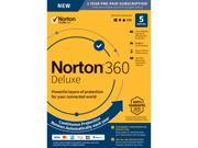 NEW Norton 360 Deluxe - Antivirus Software for 5 Devices - Includes VPN, PC Cloud ...