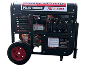 PowerLand PD3G10000E 10KW 16HP Triple Fuel (Gas,LPG,Natural Gas) Generator Electric Start