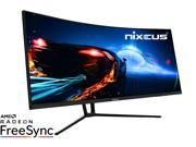 "Nixeus EDG 34"" Ultrawide 3440 x 1440 AMD Radeon FreeSync Certified 144Hz 1500R Curved Gaming Monitor with Base Title Only Stand (NX-EDG34S)"