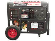 POWERLAND PD2G10000E 16 HP Dual-Fuel (Gas/LPG) Portable Generator with Electric Start - 10,000W Surge & 8.3 Gallon Fuel Tank
