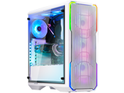 BitFenix Enso Mesh Case White, Tempered Glass Window Side Panel, ATX/Micro ATX/Mini ITX Form Factor, Asus AURA SYNC 3 pin Addressable RGB LED, ATX PSU Compatible BFC-ESM-150-WWWGK-RP