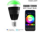 MagicLight WiFi Pro LED Light Bulb - 80w Equivalent Sunrise Wake Up Lights - Dimmable Multicolored Color Changing Disco Ball Lamp - Compatible with Alexa & Google Home Assistant