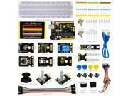 Keyestudio UNO R3 Board +Jumper Wire +Joystick + Photo Interrupter + ADXL345 Three Axis Acceleration + Rotary Encoder Module +Soil Humidity Sensor + Reed Switch Module Starter Kit K4 For Arduino