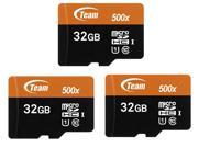 Newegg.com deals on 3-Pack Team 32GB MicroSDHC Class 10 Memory Card w/Adapter