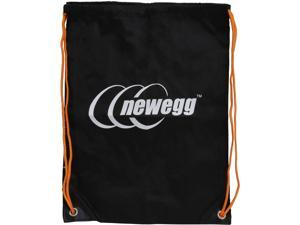 Newegg Lightweight Black Drawstring Bag