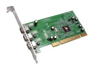 SIIG 3-port 1394 (FireWire) PCI adapter Model NN-400012-S8