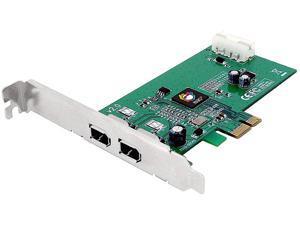 SIIG FireWire 1394a 2-Port PCIe Card, Model NN-E20012-S2
