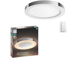 Philips Hue White Ambiance Adore Smart Flushmount Light + Dimmer Switch (Requires Hue Hub, Works with Amazon Alexa, HomeKit & Google Assistant)