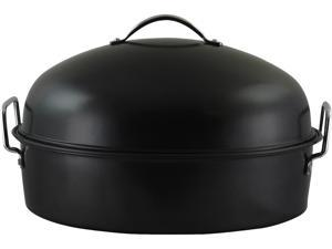 Gibson Home 90008.01 Kenmar High Dome Oval Roaster, Black