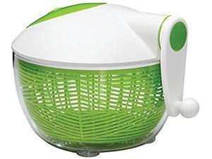 Starfrit 093028-002-0000 Green/White Salad Spinner (Green/White)