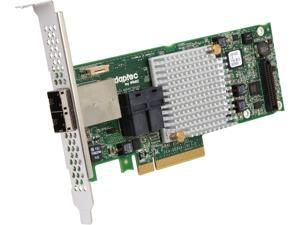 Adaptec 2277000-R Adaptec Series 8 RAID Adapters - 12Gb/s SAS - PCI Express 3.0 x8 - Plug-in Card - RAID Supported - 0, 1, 1E, 5, 6, 10, 50, 60 RAID Level - 16 Total SAS Port(s) - 2 SAS Port(s)
