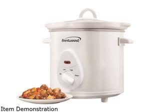 Brentwood 3 Quart Slow Cooker, White SC-135W