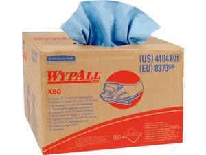 Wypall X80 Reusable Wipes (41041), Extended Use Cloths BRAG Box Format, Blue, 160 ...
