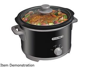 Proctor Silex 33043 4-Quart Slow Cooker, Black