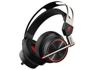 1MORE Spearhead VRX Over-Ear Gaming Headphones Super Bass Headset with Waves Nx Head Tracking, 7.1 Surround Sound, LED, Dual Microphone Noise Cancellation for PC/PS4/XBOX One/Mobile - Black