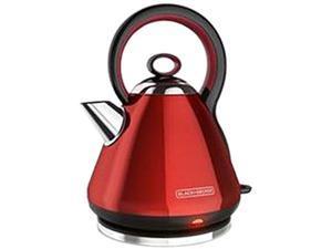 Black & Decker KE2900R 1.7L Stainless Steel Electric Cordless Kettle, Red,