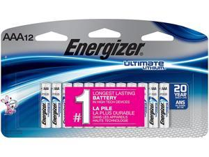 Energizer L92SBP12 AAA Ultimate Lithium Batteries , 12 Per Pack