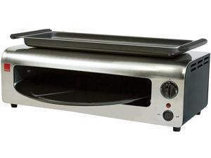 Ronco PO1001BLGEN Pizza & More Toaster Oven, Black & Stainless