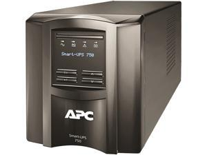 APC SMT750C 750 VA 500 Watts 120V 6 Outlets Pure Sinewave Smart-UPS with SmartConnect (Replaces SMT750)