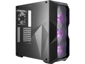 Cooler Master MasterBox TD500 ATX Mid Tower Case with Three Dimensional Diamond-Cut Design and RGB Fans w/RGB Controller Included