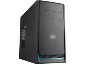 Cooler Master MasterBox E300L MATX Tower with Brushed Front Panel, Blue Accent Trim and Side Ventilation Case