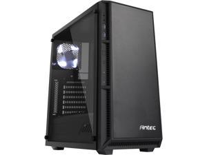 Antec Performance Series P8 Black Steel /4mm Tempered Glass Side Panel, ATX Mid Tower Computer Case, 3 White LED Fans Pre-installed, USB3.0