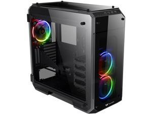 Thermaltake View 71 RGB 4-Sided Tempered Glass Vertical GPU Modular E-ATX Gaming Full Tower Computer Case with 3 RGB LED Ring Fan Pre-installed CA-1I7-00F1WN-01