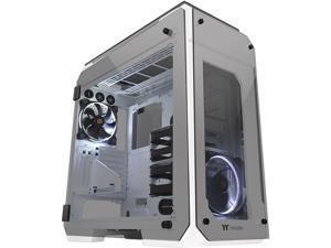 Thermaltake View 71 Tempered Glass Snow Edition 4-Sided Tempered Glass E-ATX Vertical GPU Modular Gaming Full Tower Computer Case CA-1I7-00F6WN-00