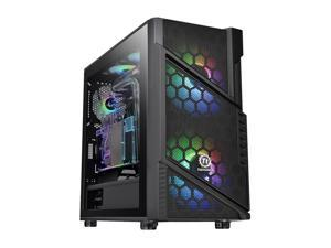 Thermaltake Commander C31 Motherboard Sync ARGB ATX Mid Tower Computer Chassis with 2x 200mm ARGB 5V Motherboard Sync RGB Front Fans + 1x 120mm Rear Black Fan Pre-installed CA-1N2-00M1WN-00