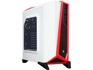 Corsair Carbide Series SPEC-ALPHA SPEC-ALPHA (CC-9011083-WW) White / Red Steel ATX Mid Tower SPEC-ALPHA Mid-Tower Gaming Case
