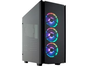 CORSAIR Obsidian Series 500D RGB SE Mid Tower Case, Premium Tempered Glass and Aluminum, LL120 Fans and Commander ...