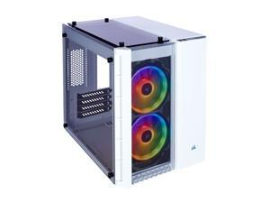 Corsair Crystal Series 280X RGB CC-9011137-WW White Steel / Plastic / Tempered Glass Micro-ATX Case Computer Case